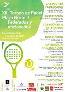 Cartel del Torneo de Pádel de Down Madrid