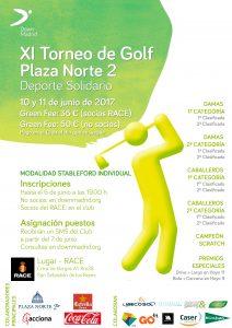 torneo golf down madrid, Clasificación del XI Torneo de Golf Plaza Norte 2