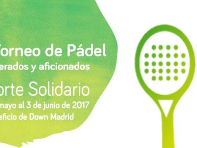 Cartel del Torneo de Padel de Down Madrid