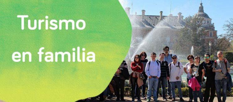 Personas con discapacidad intelectual de ocio de Down Madrid en un día de ocio en familia