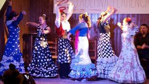 Escena de baile flamenco inclusivo de Down Madrid