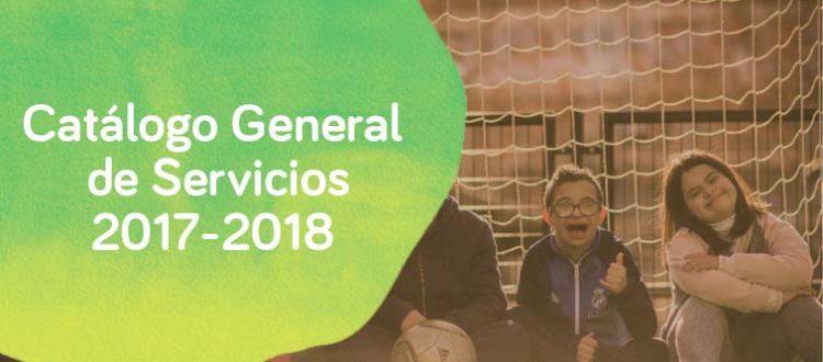 imagen de catálogos de servicios de Down Madrid para el curso 17/18