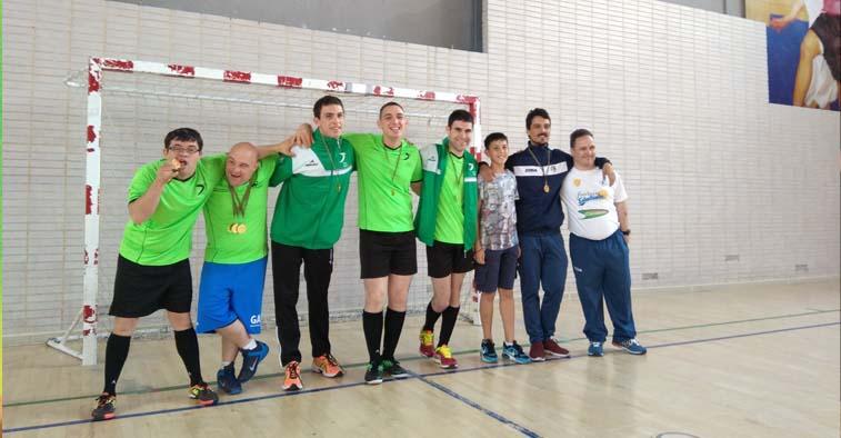 Foto de ganadores de Liga de fÚtbol de Down Madrid
