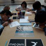 Taller en Maxam de jóvenes con discapacidad de Down Madrid