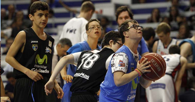 Equipo inclusivo de baloncesto de Down Madrid All Star