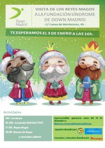 Cartel de reyes 2017 del servicio de ocio de Down Madrid