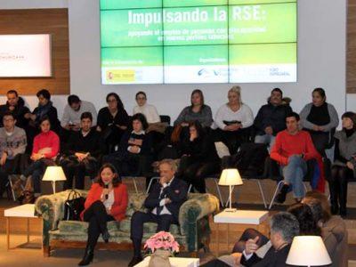 Espacio de celebración del desayuno para empresas Impulsando la RSE en la contratación de personas con discapacidad