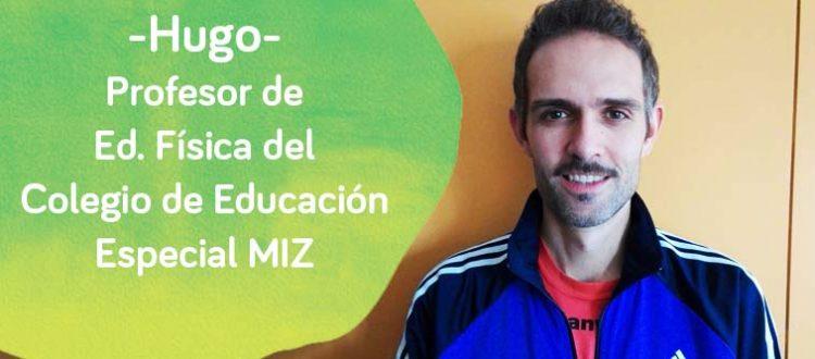 Hugo, profesor de Educación Fïsica del MIZ de Down Madrid