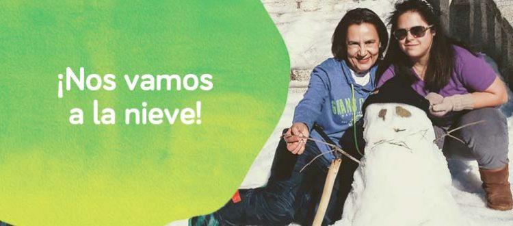cartel de excursión a la nieve de Down Madrid