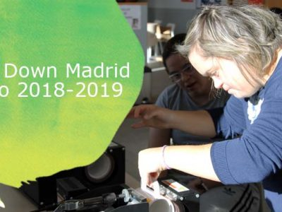 Cartel de becas Down Madrid curso 2018-2019
