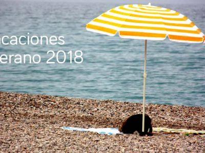 sombrilla en la playa, viajes de verano Down Madrid