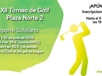 Cartel del Torno de golf de Down Madrid