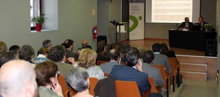 Sesión de las jornadas jurídicas de Down Madrid