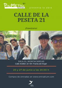 Cartel publicitario de Polimetría 21 de Down Madrid