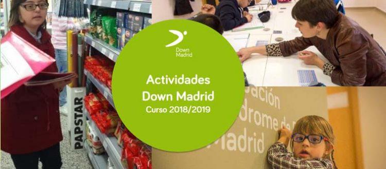 Actividades Down Madrid Curso 2018-2019