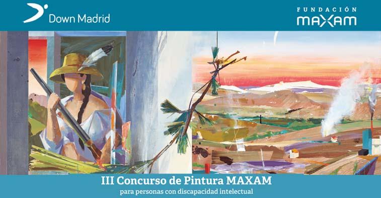 Cartel del Concurso de Pintura de Fudnación MAXAM y Down Madrid