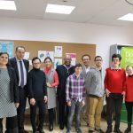 Grupo de jóvenes con discapacidad de Down Madrid y DELL