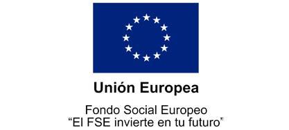Logo Fondo Social Europeo, colaborador de Down Madrid