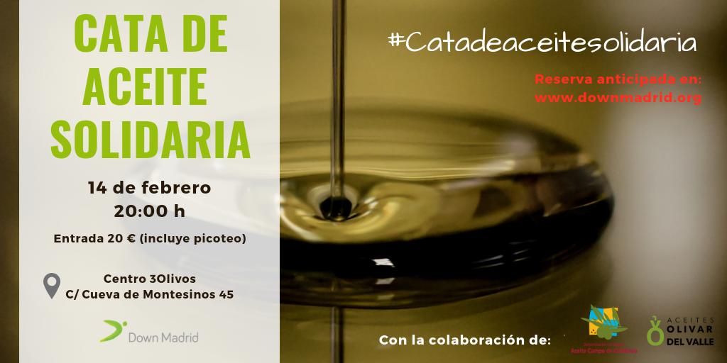 Cata de aceite solidaria Down Madrid