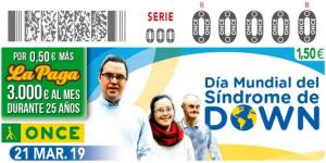 Cupón ONCE por el día mundial del Síndrome de Down