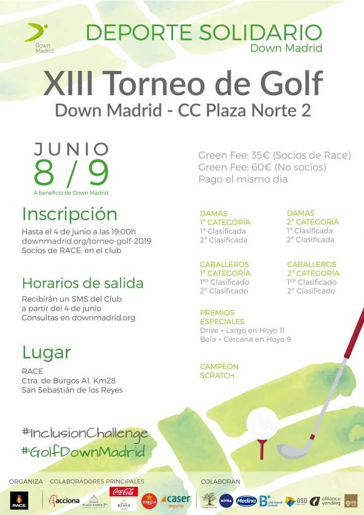 Torneo Golf Down madrid
